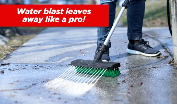 Water blast leaves away like a pro!